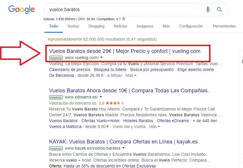 google adwords anuncios.